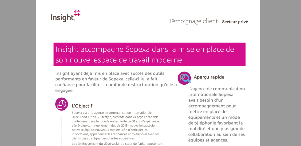 Témoignage client : Insight accompagne Sopexa