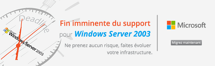 Fin du Support Windows Server 2003